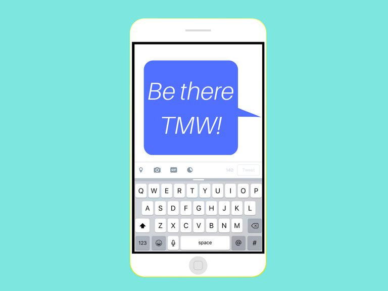 An image graphic of a text message saying