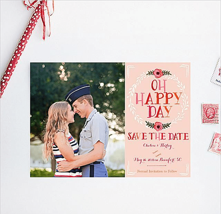 pretty in pink save the dates from wedding chicks - Wedding Invitations And Save The Dates