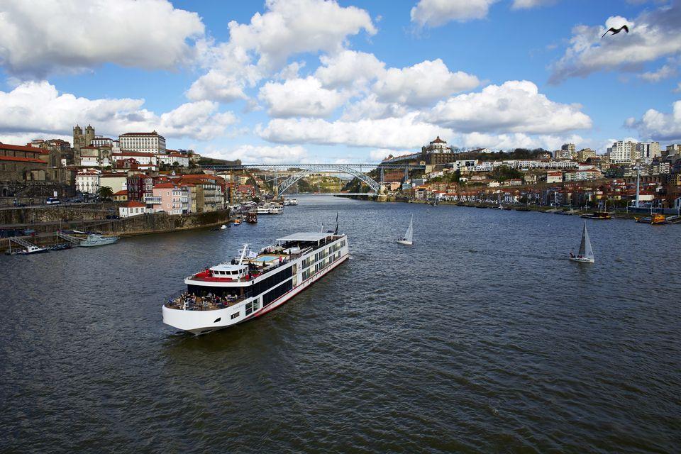 Viking Torgil on the Douro River in Porto, Portugal