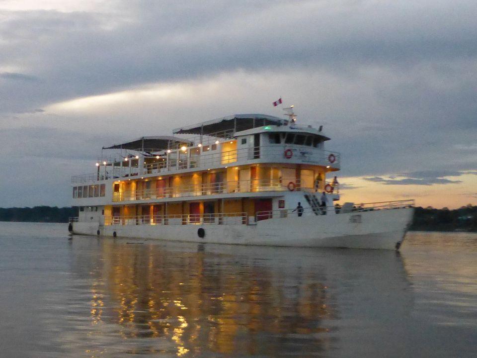 Queen Violeta on the Upper Amazon River near Iquitos, Peru