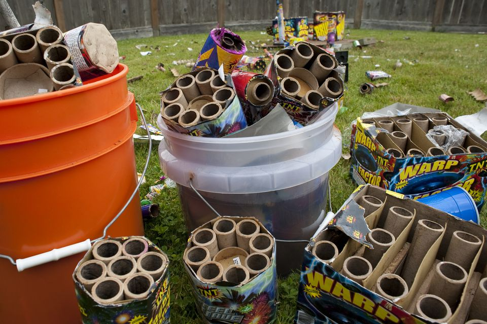 Fireworks garbage day after July 4th