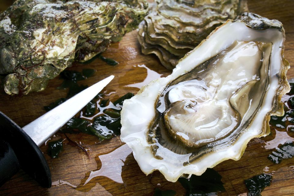 Oyster with Oyster Knife