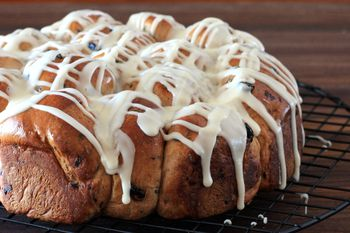Soft Pull Apart Blueberry Rolls From Your Bread Machine