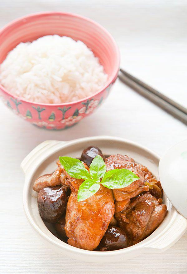 Braised Chinese Chestnuts Chicken