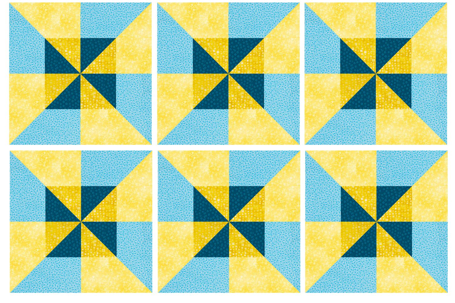 Pinwheel Quilt Block Template : Easy Double Pinwheel Quilt Block Pattern