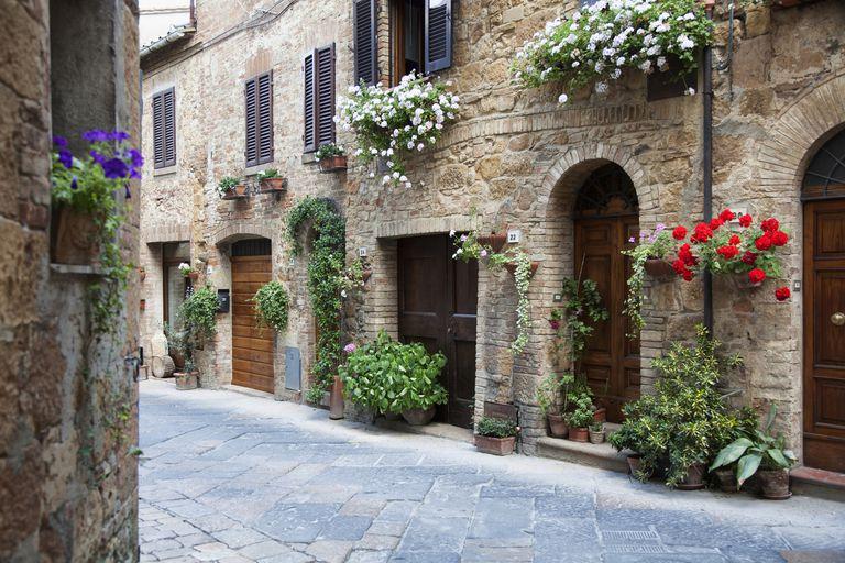 Streetview of Pienza, Italy