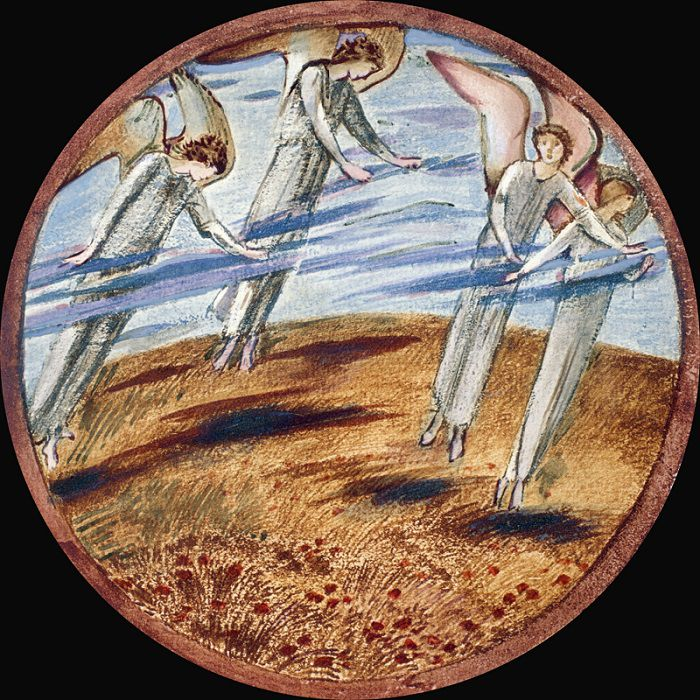 guardian angels hovering over the ground earth ishim
