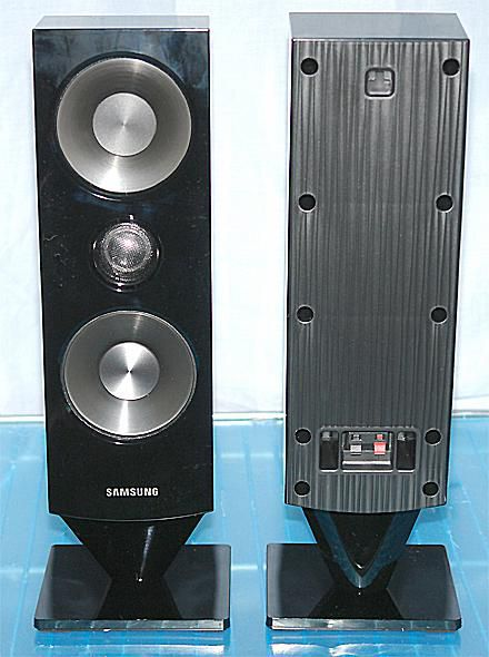 home theater samsung. samsung ht-d6500w 5.1 channel blu-ray 3d home theater system - front speakers