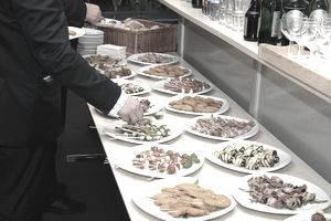 buffet with finger-food starters