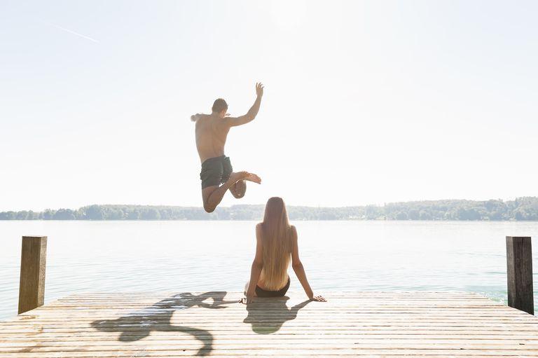 Couple on a dock