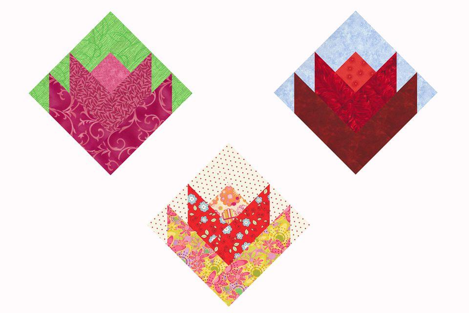 Lovely Little Tulips Quilt Block Pattern