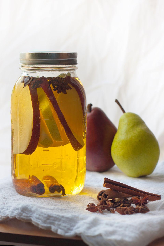 Homemade Spiced Pear Liqueur