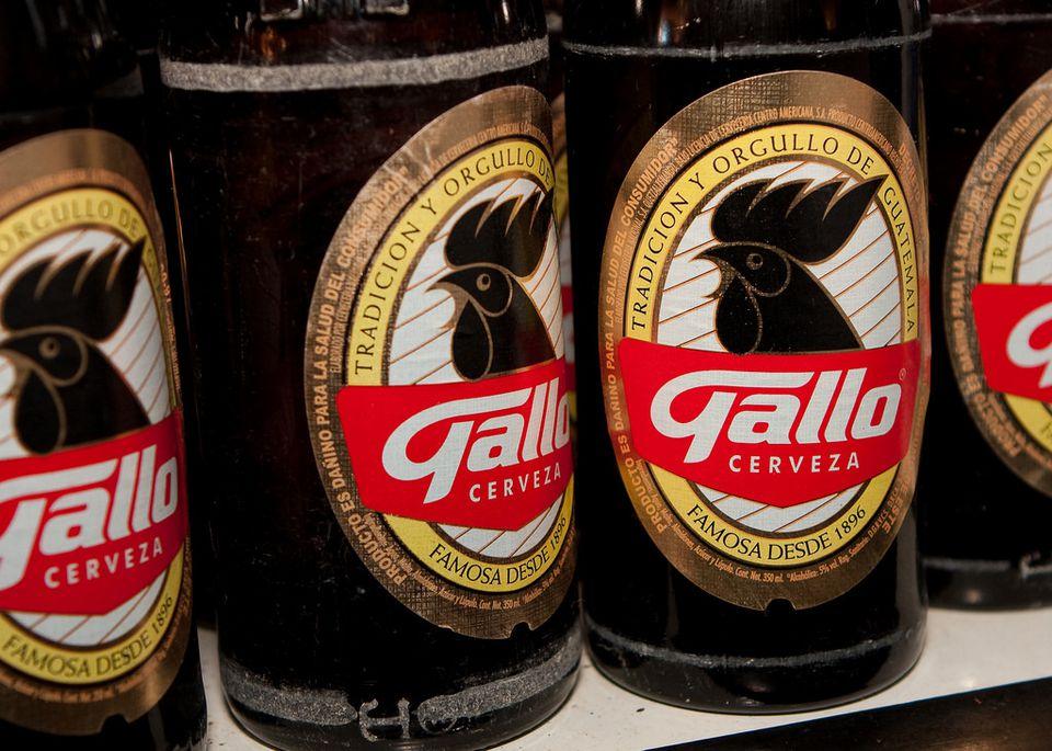 Bottles of Gallo beer.