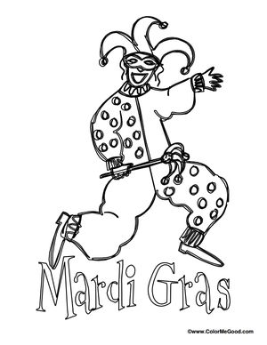 free mardi gras coloring pages at color me good - Mardi Gras Coloring Pages