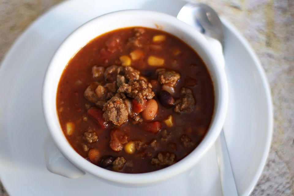 ground beef taco soup with beans