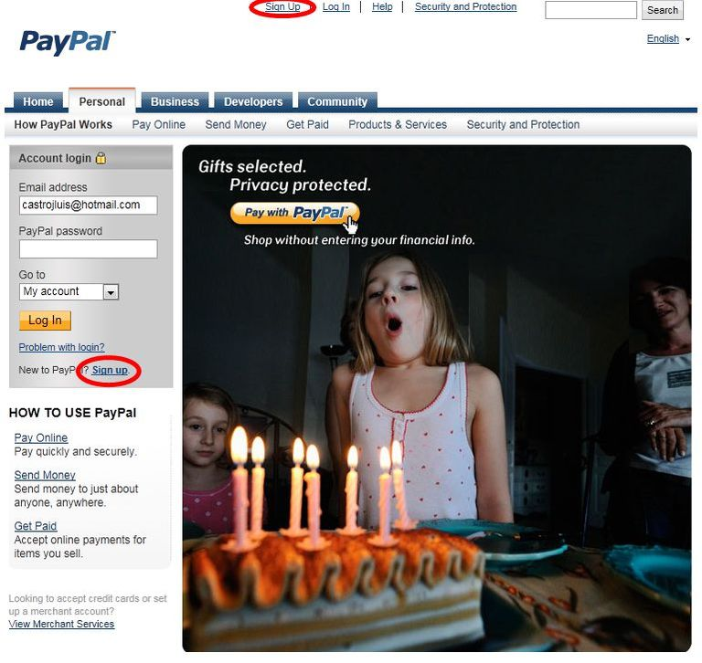 Paypal cuenta 01