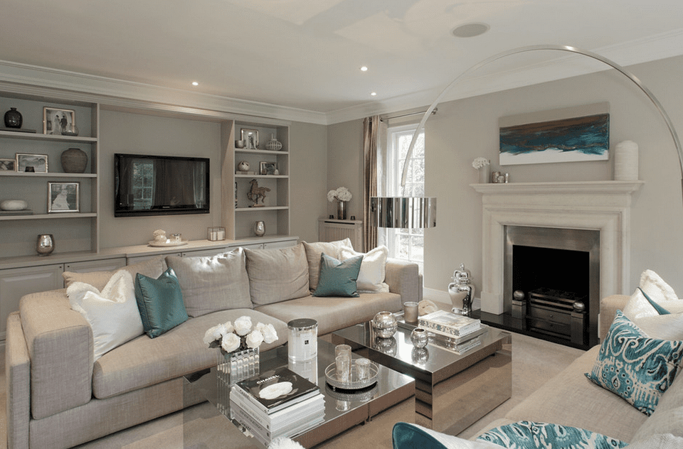 calming and classic classic gray living room hush design - Interior Design Living Room Classic