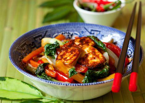 Thai Vegetable Stir-Fry with Tofu