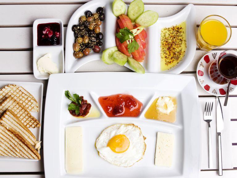 breakfast food on plates