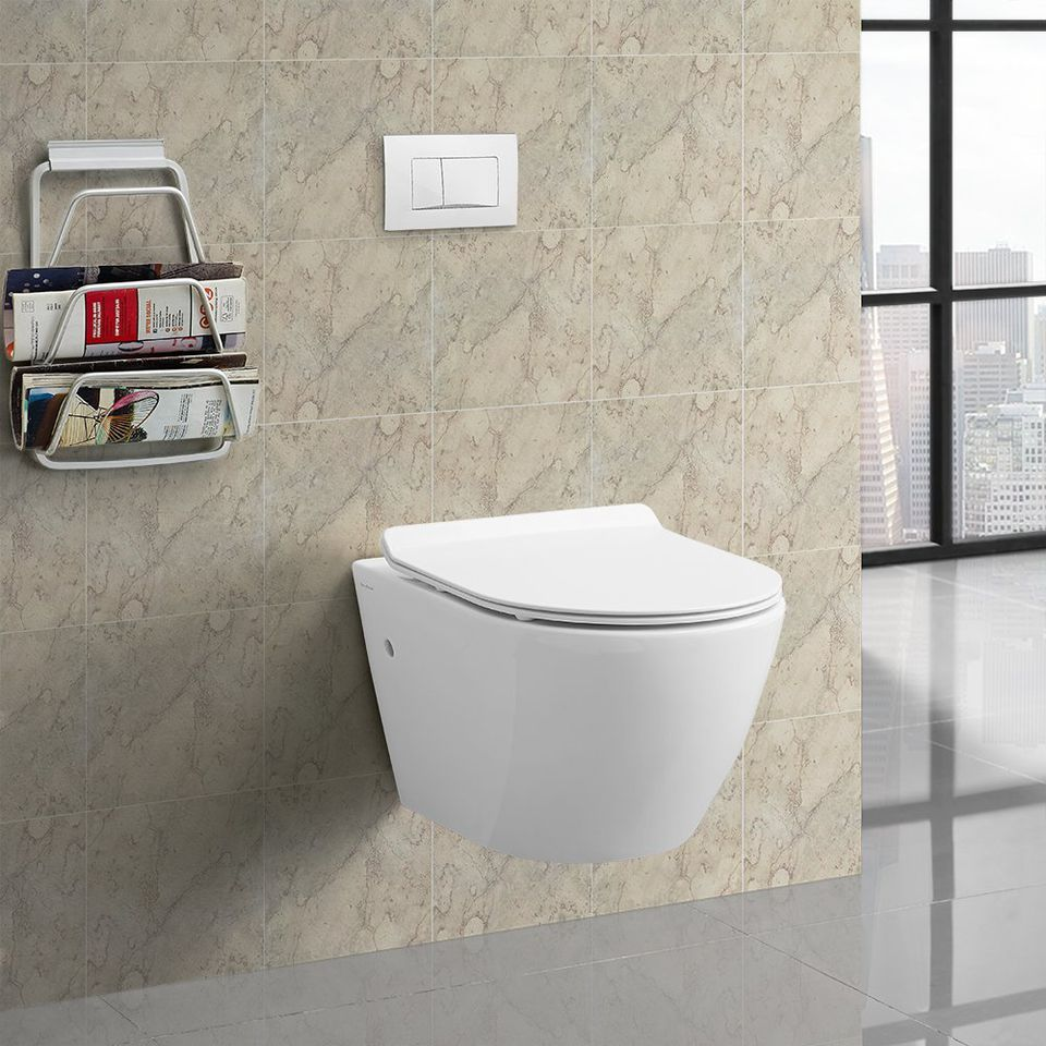 toilets for small bathrooms. wall hung toilet 8 Wall Mounted Toilets for Tiny Bathrooms
