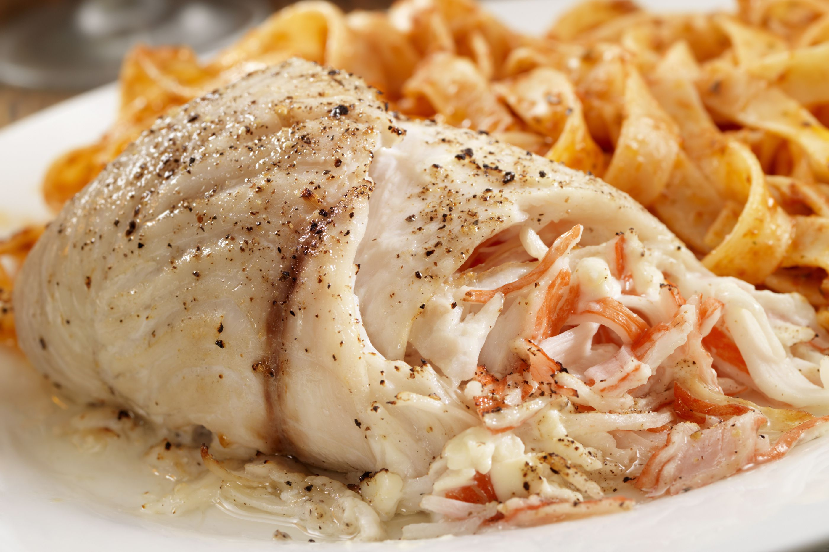 Baked stuffed flounder with crabmeat recipe for Crab stuffed fish