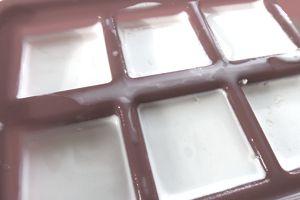 frozen buttermilk in ice tray