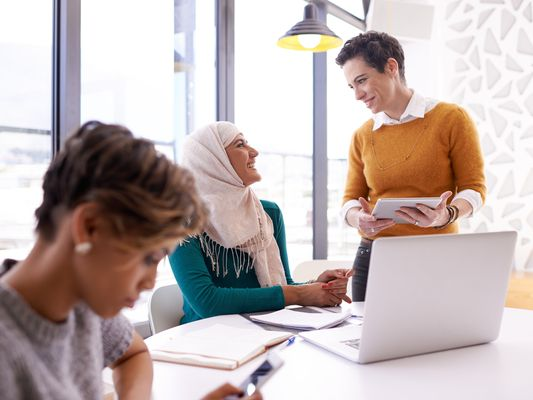 multicultural business women