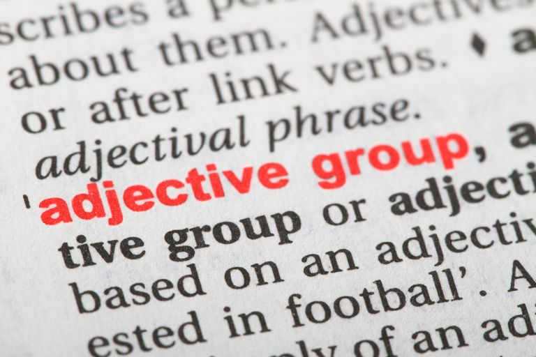 adjective group word in dictionary.