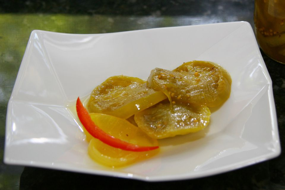green tomato pickles and onions