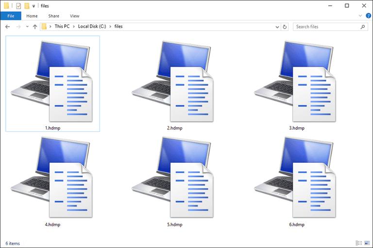 HDMP Files