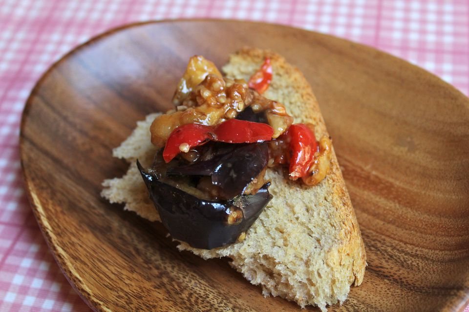 Eggplant and Red Pepper Salad