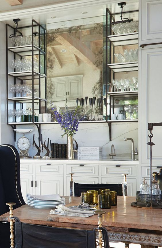 Elegant Built In Bar Home A Dining Room