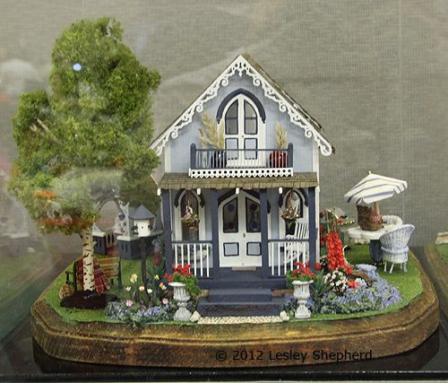 Campground cottage quarter scale scene by Rosemary Shipman