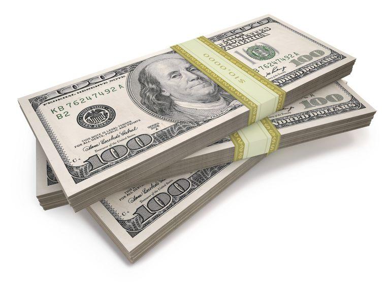 Us dollar bills, illustration