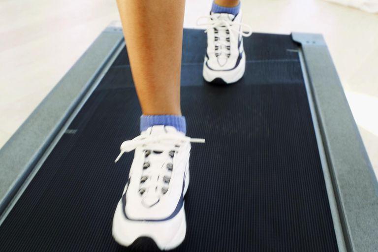 Feet Walking on Treadmill