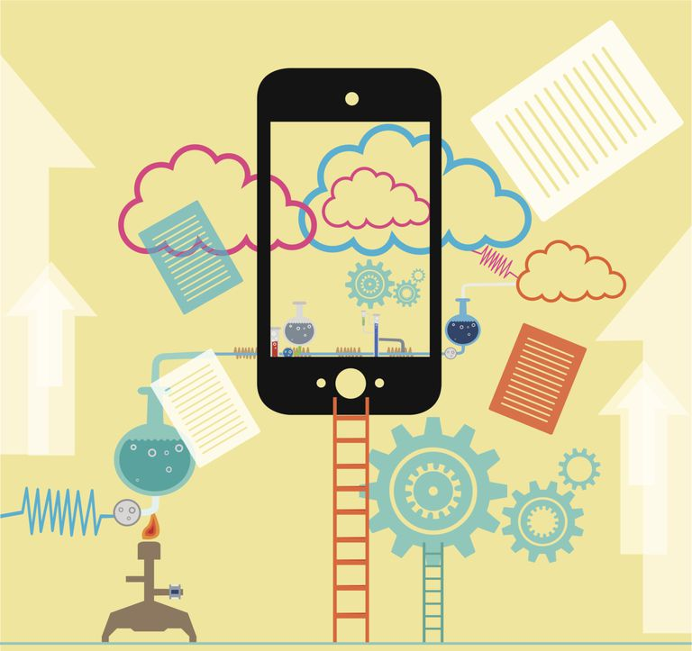 Mobile phone and cloud storage