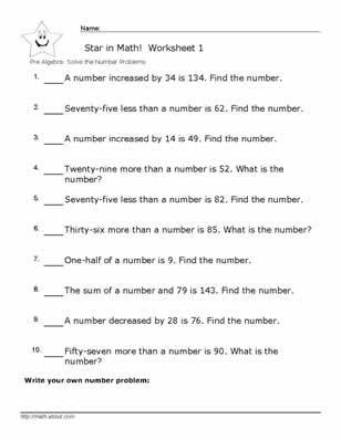 Worksheet # 1