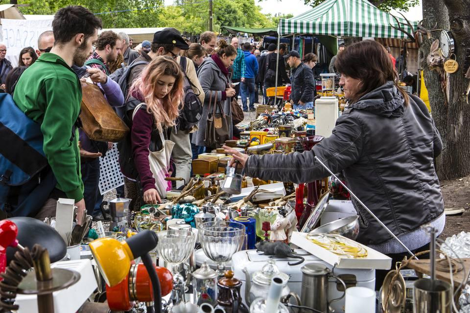 outdoor country flea market