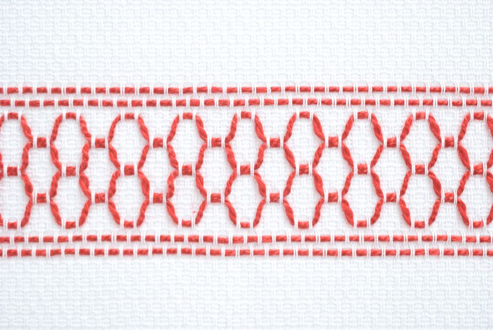 Sample of Huck Embroidery