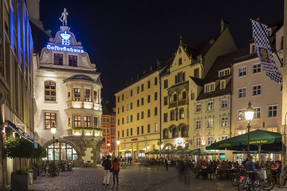 The Hofbrauhaus in Munich, Germany