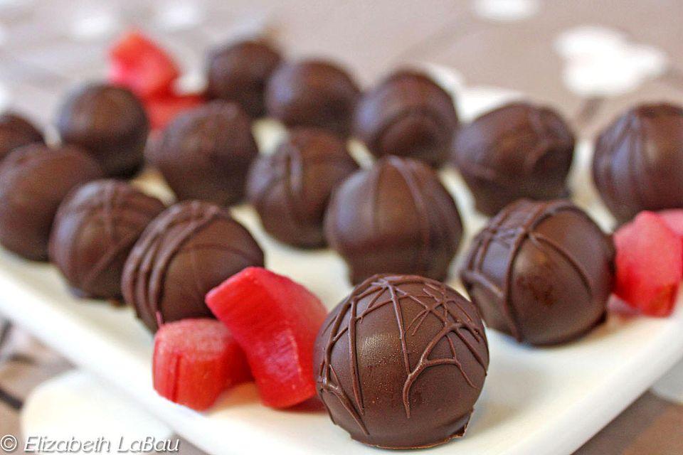 Rhubarb Truffles