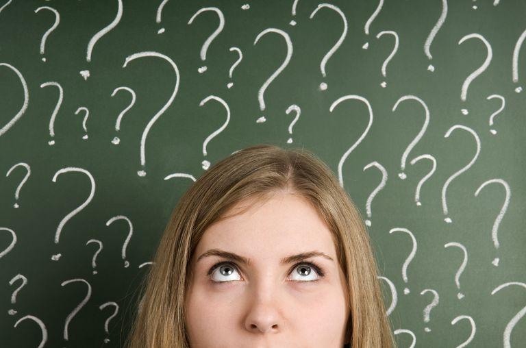 chalkboard question marks