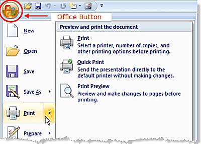 Print slides in powerpoint 2007 print options in powerpoint 2007 toneelgroepblik Image collections