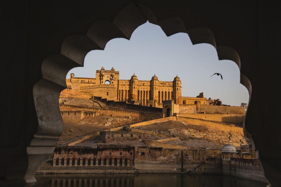 The Amber Fort of Jaipur at sunrise