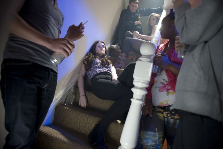 teenage booze at a house party