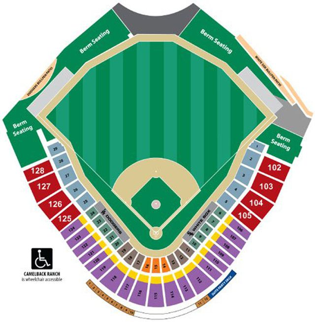Camelback Ranch Glendale Stadium Seating Chart