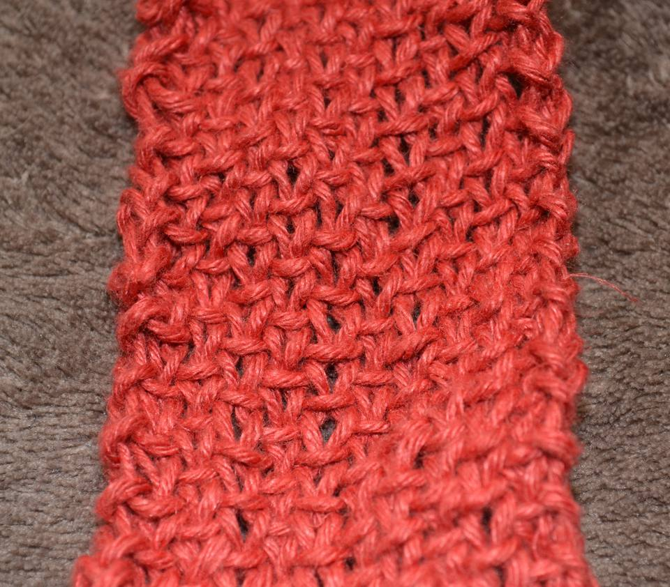 linen stitch is a pretty, easy, textured stitch patternt that looks woven.