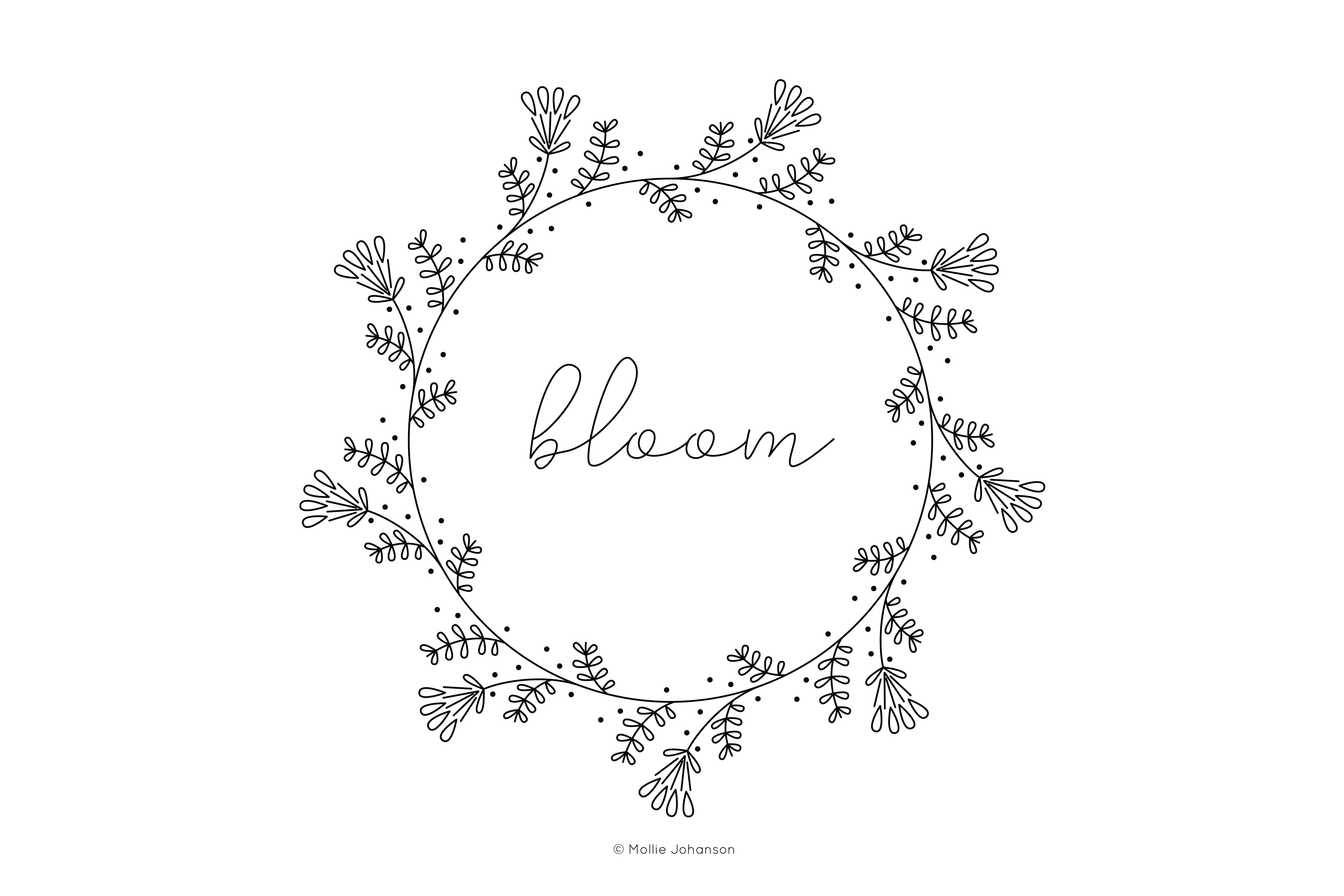 Free Vintage-Inspired Bloom Embroidery Pattern