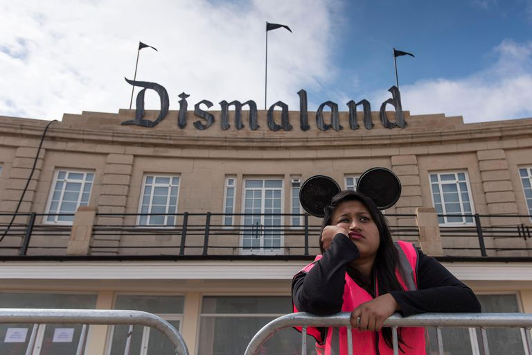 Banksy's Dismaland evokes the aspect of critical theory that suggests that amusement and entertainment are key facets of domination.