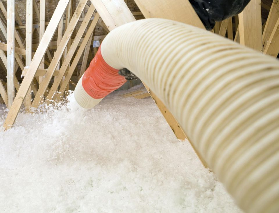 Cut energy bills with blown in insulation in the attic solutioingenieria Image collections